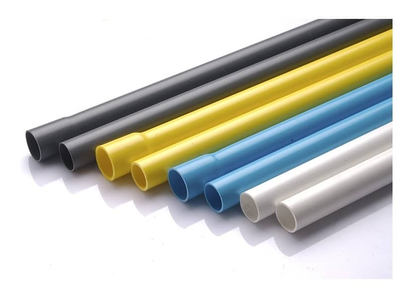 ท่อพีวีซี สีฟ้า สีขาว สีเหลือง สีเทา SCG ตราช้าง และ ตราเสือ